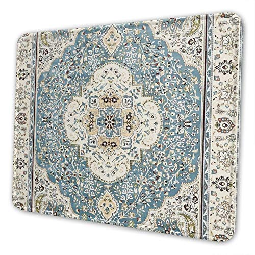 Rug Classic Oriental Beige Grey Gaming Mousepad Rubber Mouse Pad Non-Slip for Computer Laptop Office Work Desk 7.9x9.5 Inch