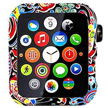 Compatible with Apple Watch Series 3 Series 2 Series 1 Floral Silicone Case Bumper Resistant Impact Resistant Protective for Apple Watch 42mm 38mm  Flower 03 42mm