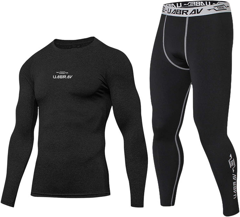 Men's Tights Set Sports Suit Workout Leggings Set Athletic Suit Underwear