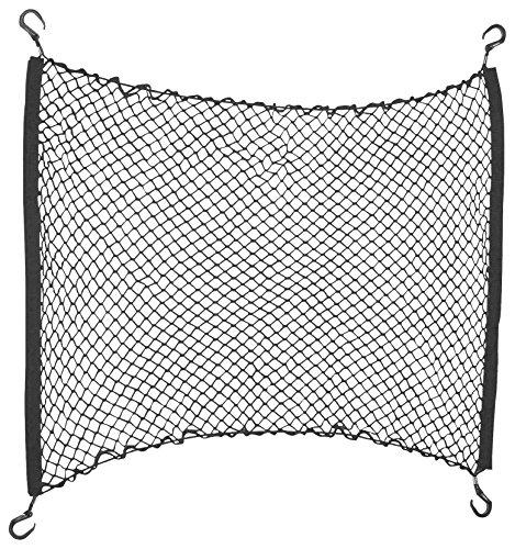 Preisvergleich Produktbild HRimotion hochwertiges Kofferraumnetz mit elastischer Randschnur [800mm x 900mm ,  inkl. Haken & Befestigungsset ,  Hochwertiger Spinnstoff] 10511401