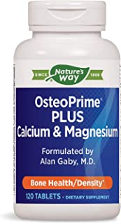 Enzymatic Therapy Nature's Way OsteoPrime PLUS Calcium & Magnesium, 120 Count (Packaging May Vary) (07712)