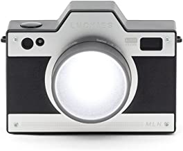 Luckies of London Retro Style Camera Shaped Rechargeable Night LED Light, 3.1 x 4.8 x 2.2 Inches, Black