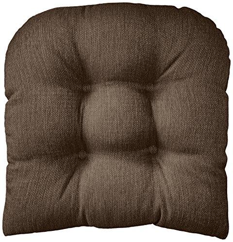 Klear Vu Gripper Non-Slip Omega Tufted Universal Chair Pad Cushion, 17' x 17', Chestnut