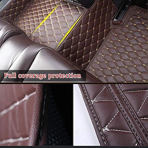 DBL Custom Car Floor Mats for Mazda MX-5 Miata 1995-2004 Waterproof Non-Slip Leather Liners Automotive Carpets Interior Accessories Full Set (Black Red)