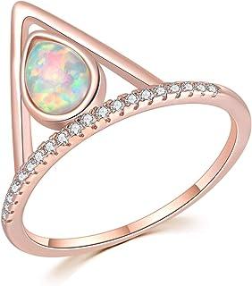 مجوهرات للنساء من CiNily Pink Fire Opal Pink Topaz CZ مجوهرات الأحجار الكريمة روز مطلية بالذهب خاتم الحجم 5-13