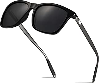 Boyou Men Retro Wayfarer Uv400Sports Polarized Glasses