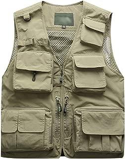 iYYVV Mens Photography Outdoors Mesh Multi-Pocket Sleeveless Jackets Vest Waistcoat