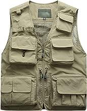 Mens Summer Vests Supper Lightweight,Tronet Men Photography Outdoors Mesh Multi-Pocket Sleeveless Jackets Vest Waistcoat