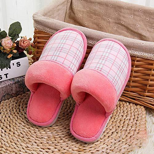 Flip Flop-GQ Las Zapatillas de algodón a Cuadros de Invierno Mantienen los...