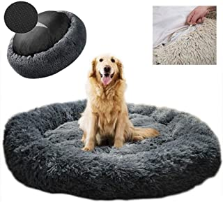 Dog Bed Pet Bolster Bed Kennel Cat Cushion Bed Marshmallow Pet Bed Large Ultra Soft Plush Donut Cuddler Round Dog Nest Bed...