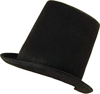 c0db82c94d622 Adult Fancy Dress Party Headwear Extra Tall Stovepipe Victorian Top Hat  Black