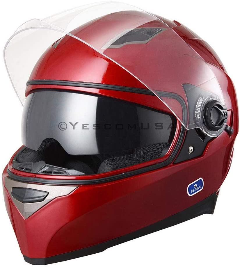 Red Full Special Campaign Face Motorcycle Helmet Dual Up Vent Air Visors Flip Super-cheap ABS