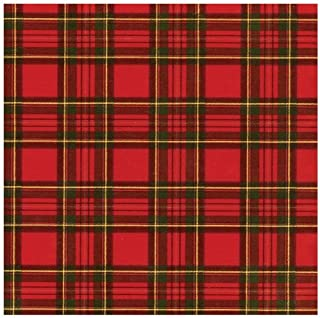 Entertaining with Caspari Royal Plaid Foil Continuous Gift Wrapping Paper Roll, 8-Feet
