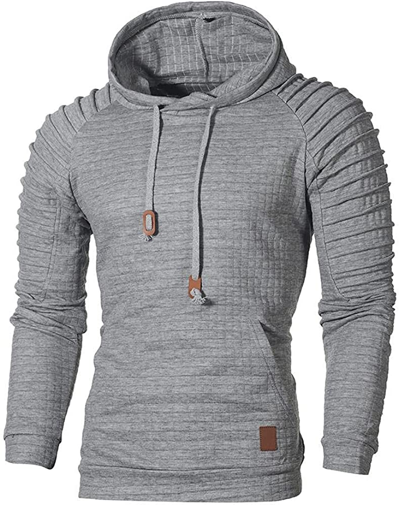 Shipping included Hoodies Max 43% OFF for Men Pullover Casual Sweat Color Athletic Solid Men's