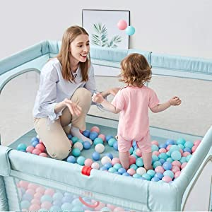 Playpens Baby Playpen Portable Kids Safety Play Center Yard Home Indoor Fence Anti-Fall Play Pen pens  Size 1 56x1 86m