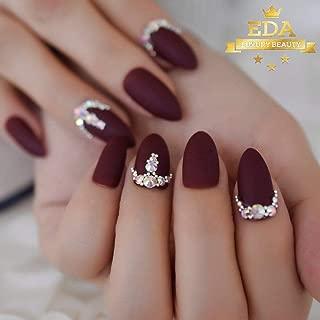 Best matte burgundy nails short Reviews