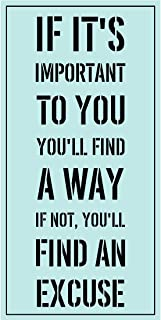 Meishe Art Poster Print Inspirational Quotes Phrase If It's Important to You You'll Find A Way If Not You'll Find an Excuse Motivational Saying Office Home Wall Decor
