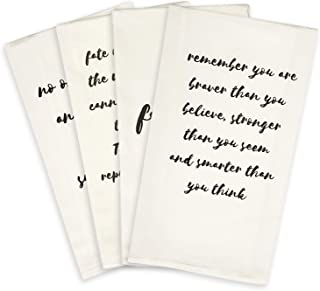 Inspirational Gifts for Women - White Hand Towels or Dish Towels Go With Any Decor | Make Perfect Thinking of You Gifts | Encouragement Gifts for Women