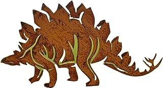 AHURGND Stal nierdzewna Dinozaurów Sztuka, Dinozaur Sylwetka Ogród Dekoracyjne, Dinozaur Dekoracyjne, Realistyczne Ozdoby ...