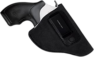 CCW Tactical IWB Leather Holster for J Frame Revolvers by Made of Genuine Suede for Ultimate Concealed Carry Comfort, RH or LH Draw for Men or Women, Choose Style and Color