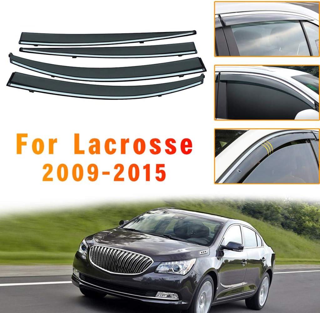 for Buick ギフ_包装 Lacrosse 2009-2015 4PCS Smoke Visor 送料0円 Deflector Rain Sun