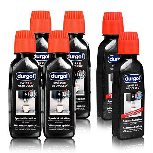 Durgol Swiss Spezial Espresso Entkalker 4 Fl. a 125ml + 2 Fl. á 125 ml Gratis Muster