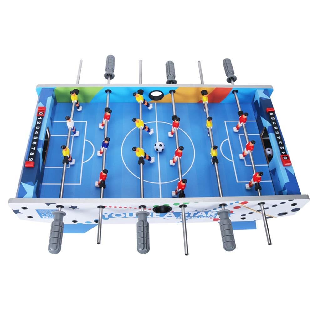 Laishutin Futbolín For niños y Adultos Asas ergonómicas Juego de futbolín fútbol de la Tabla Apto para Interiores o al Aire Libre (Color : Azul, tamaño : 69.5x36.5x24cm): Amazon.es: Hogar