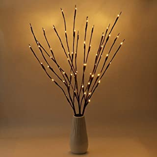 Crystaller LED Branch Lights Battery Powered,Warm White Lighted Twig Branches Decorative Lights Willow Twig Lighted Branch...