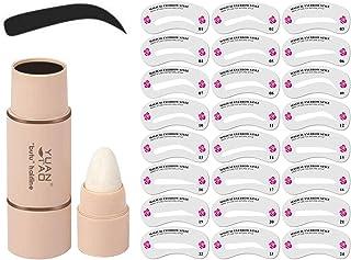Wenkbrauwstencil,Wenkbrauwstempel, 24 Stencils,Herbruikbare Wenkbrauwstempel Make-up Wenkbrauwstempel, Gebruiksvriendelijk...