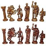 StonKraft Rey de 8,89 cm de Altura - Edición de Coleccionista Figuras de Ajedrez de Latón Figura Romana Estatuillas