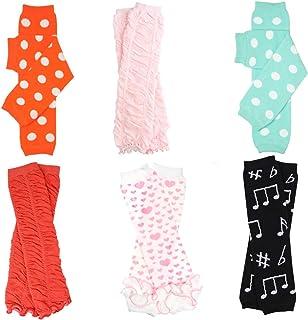 juDanzy girls polka dot 4 pack of baby leg warmers in pink aqua green /& purple