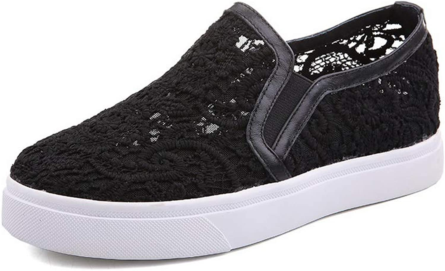1TO9 Womens Ruched Lace Casual Urethane Pumps shoes MMS06449