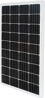 ECO-WORTHY 100w 単結晶 ソーラーパネル100W 太陽光発電 太陽電池モジュール【日本倉庫出荷 ソーラーパネル5年品質保証 メーカー販売】