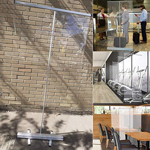 XINGG Protezione per Starnuti Trasparente Tosse Starnuti Paravento Impermeabilità, con Un'elevata Trasparenza per Gli Ospedali delle Scuole di Bar