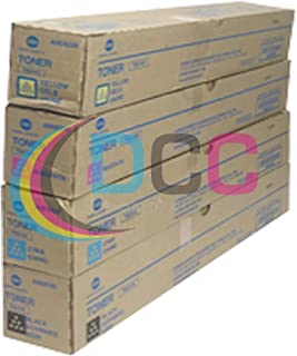 Konica Minolta TN-514K TN-514C TN-514 TN-514Y Bizhub C458 C558 C658 Toner Cartridge Set (Black Cyan Magenta Yellow, 4-Pack) in Retail Packaging