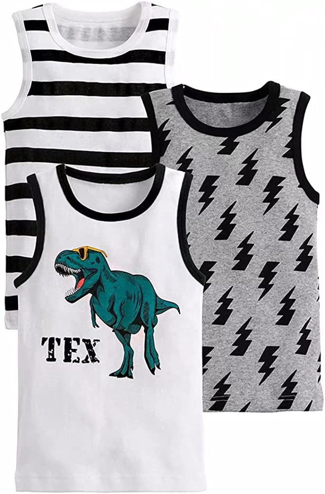 benetia Boys Cotton Tank Tops Kids Undershirts 3-Pack