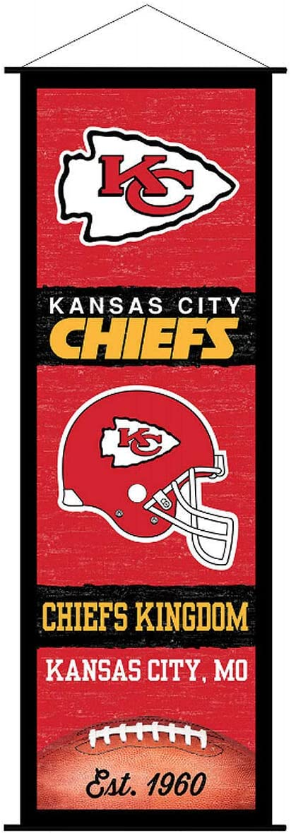 Kansas City Chiefs Banner and Scroll Sign