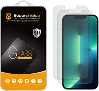 (2 Pack) Supershieldz Anti Glare (Matte) Screen Protector Designed for Apple iPhone 13 Pro Max (6.7 inch) [Tempered Glass]...