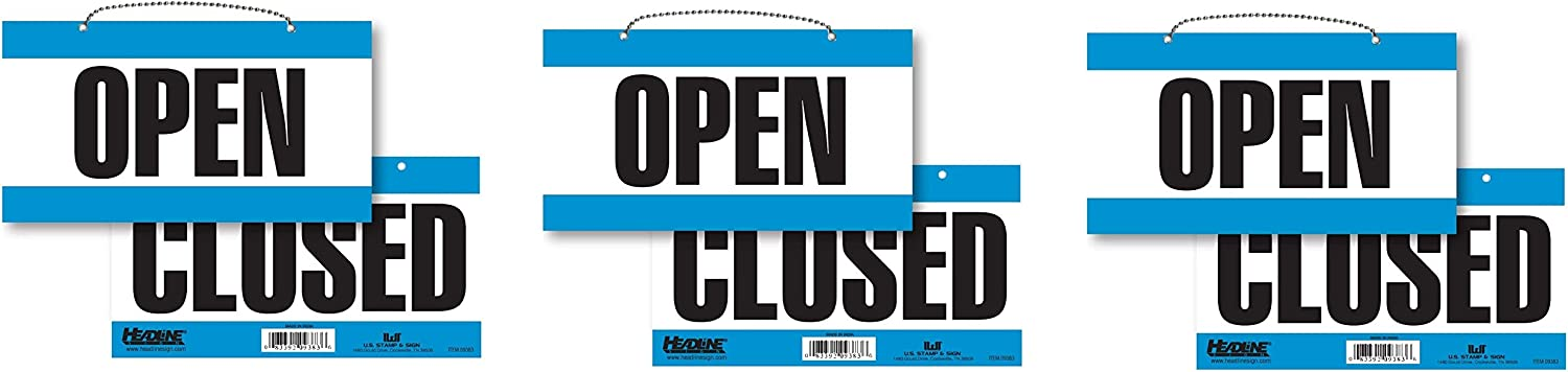 Headline Sign 9384 Double-Sided Open by Closed 6 Inches 新作からSALEアイテム等お得な商品 満載 デポー 11