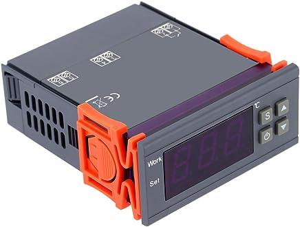 KKmoon Controlador de Temperatura Relés con Sensor 0~250V 10A ,-50~110 Grado Centígrado para Incubadora,Cocina, Agua Temperatura Control,Enfriador Industrial,Caldera