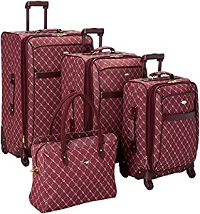 Travel Gear Signature 4 Piece Expandable Spinner Luggage Set