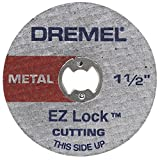 Dremel EZ456, 1 1/2-Inch (38.1 mm) Wheel Diameter, EZ - Lock Fiberglass Reinforced Cut-off Wheels, Rotary Tool Cutting Disc for metal cutting, 5 pieces, Medium