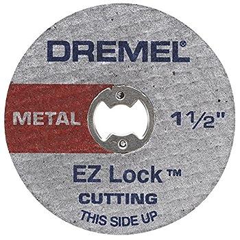 Dremel EZ456 1 1/2-Inch  38.1 mm  Wheel Diameter EZ - Lock Fiberglass Reinforced Cut-off Wheels Rotary Tool Cutting Disc for metal cutting 5 pieces Medium