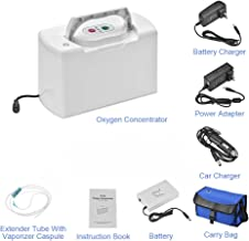 TTLIFE Portable Oxygen Bar Machine O2_Concentrator_Generator with One Battery for Travelling and car use 110V