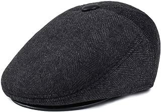 Men's Warm Wool Tweed Earflap Fitted Hats Flat Cap Ivy Gatsby Newsboy Winter Hat