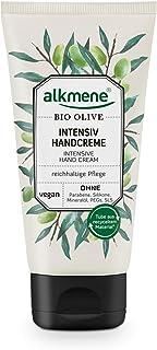 alkmene Handcreme mit Bio Olive - Intensiv Creme für sehr trockene Hände - vegane Olivenöl Intensivcreme ohne Silikone, Parabene, Mineralöl, PEGs, SLS & SLES - Hautpflege 1x 75 ml