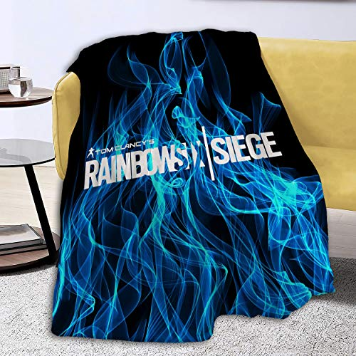 Kiki Aces Blankets Rainbow-Six-Siege Flannel Fleece Plush Anti-Pilling Cozy Bed Throws for Home - 60x50 Inches