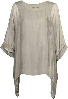 2 Teiler Bluse Tunika mit TOP Unterhemd Damen T-Shirt Fledermaus Tunikashirt