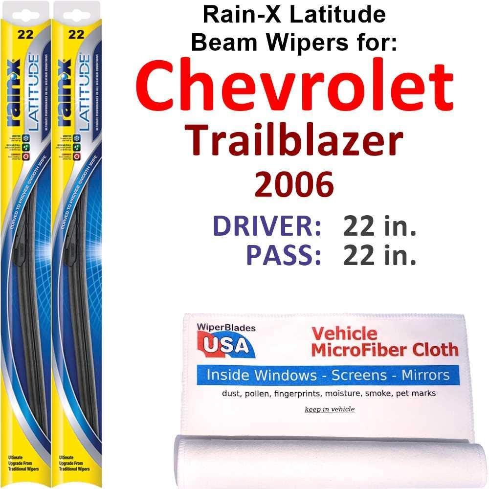 Rain-X Latitude Dallas Mall Beam High material Wiper Blades Chevrolet for Trailblazer 2006