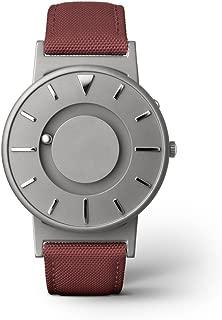 EONE Watch Bradley Titanium Canvas Crimson Strap